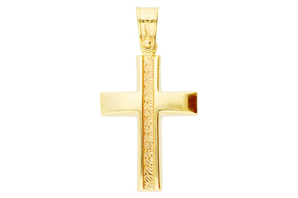 Bijuterii aur pandantiv cruce
