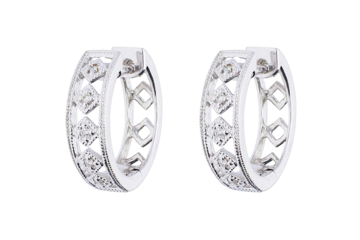 Cadouri bijuterii dama cercei aur  18k cu diamante