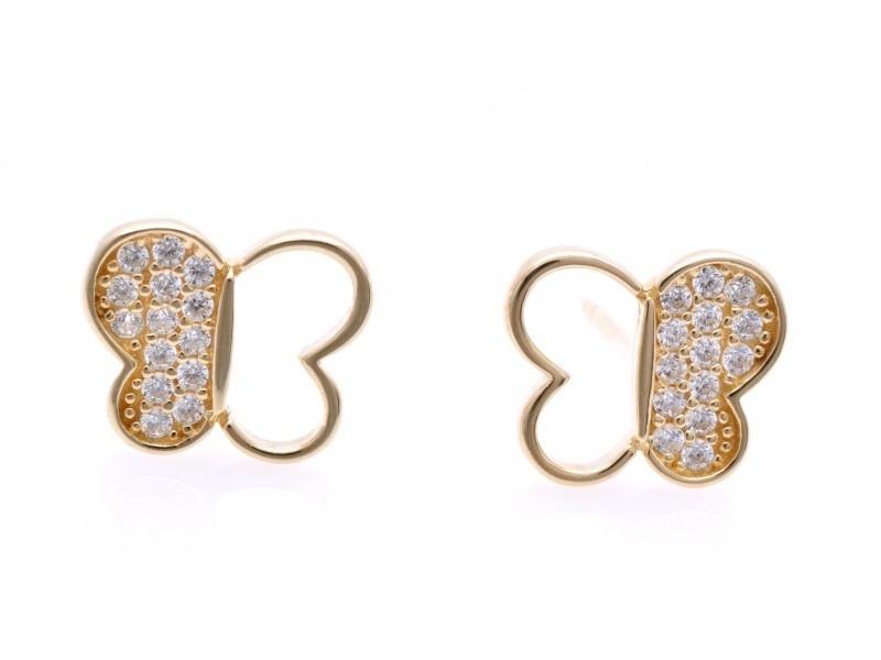 Cercei aur 14 k bijuterii dama fluture