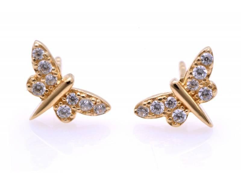 Cercei aur 14 k bijuterii dama libelula