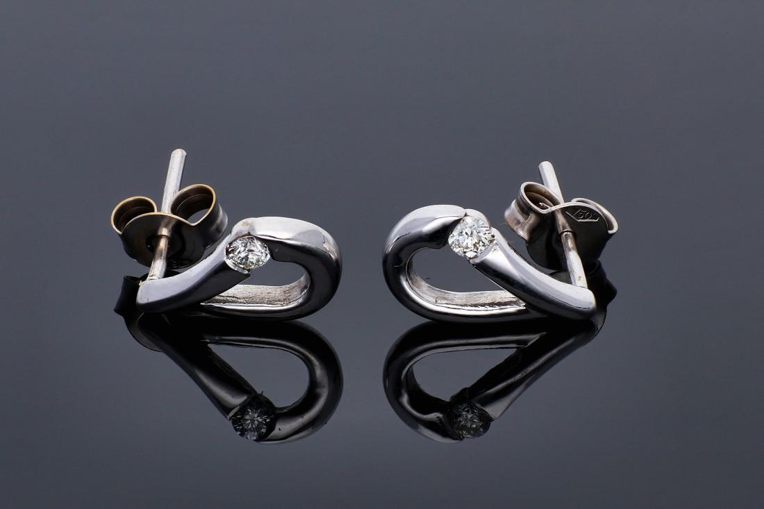 Cercei aur 18K bijuterii cu diamante