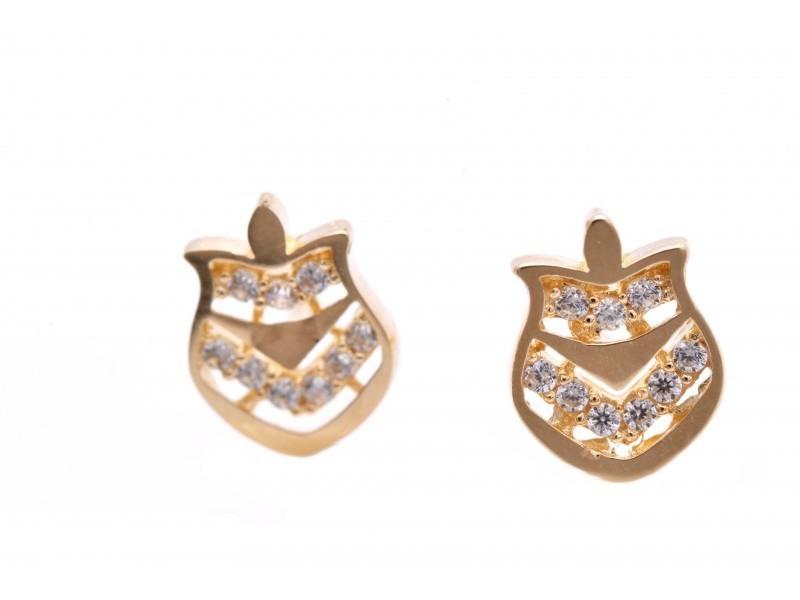 Cercei surub aur 14K bijuterii online