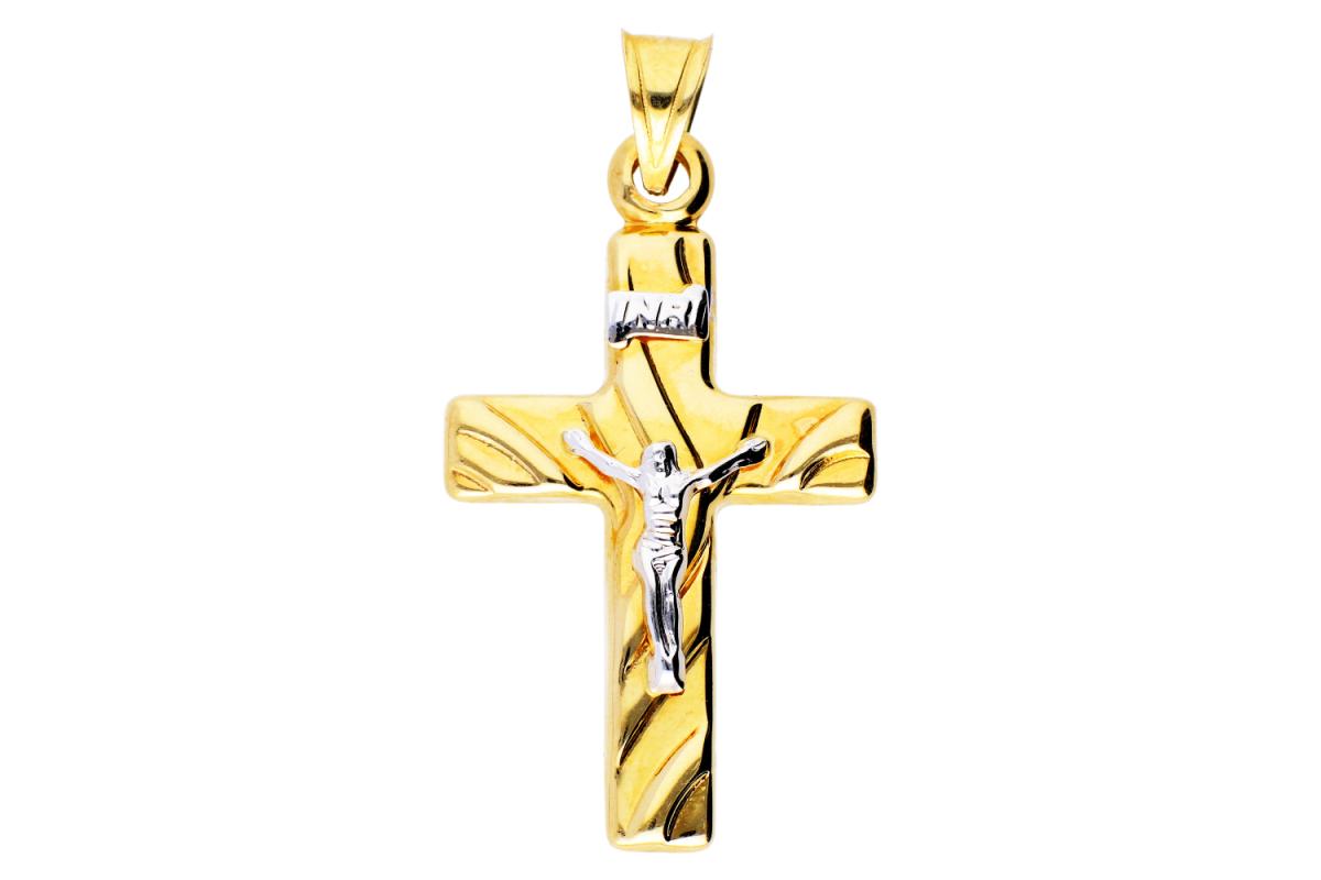 Cruciulita Iisus aur 14K bijuterii cadou