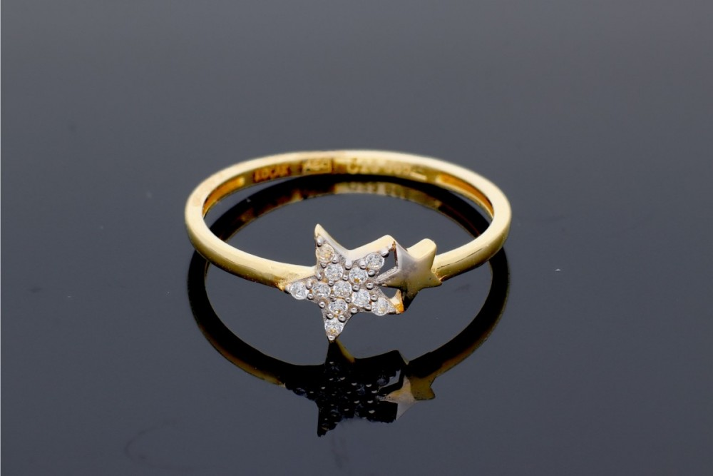 Inel aur 14k bijuterii cadou dama steluta