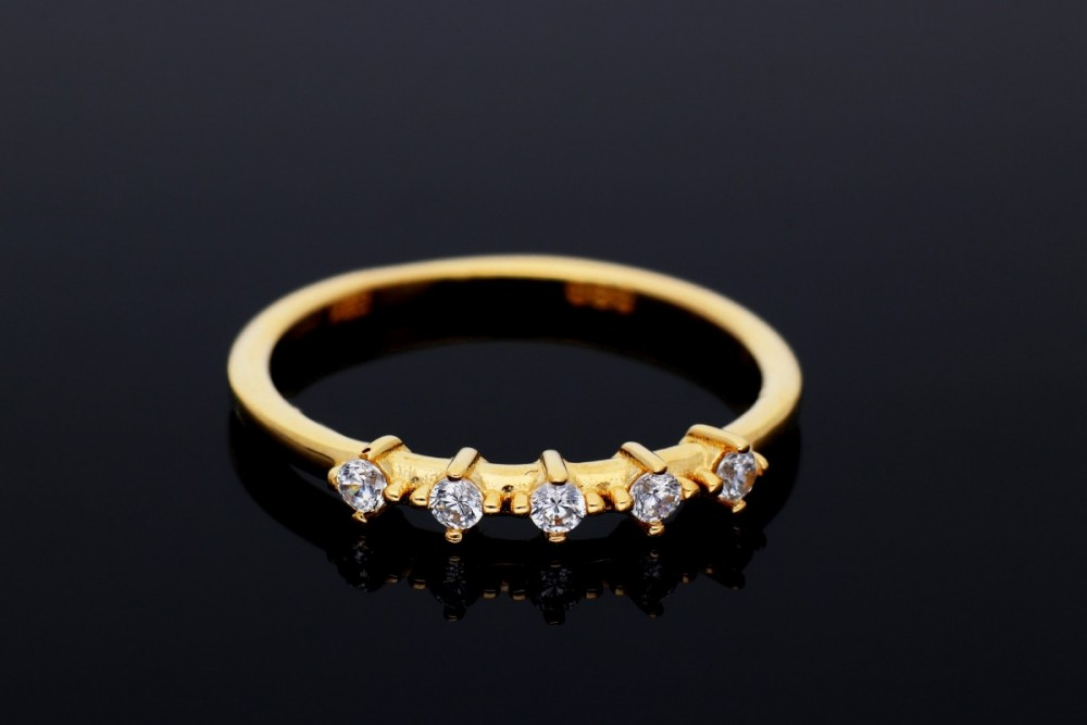 Inel aur 14K cristale zirconia