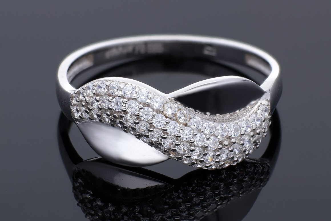 Inel aur alb 14K cadouri bijuterii