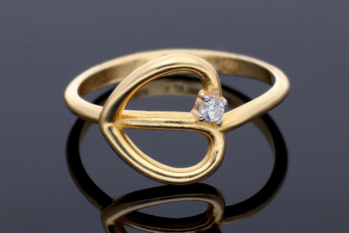 Inel aur cadouri bijuterii dama inimioara