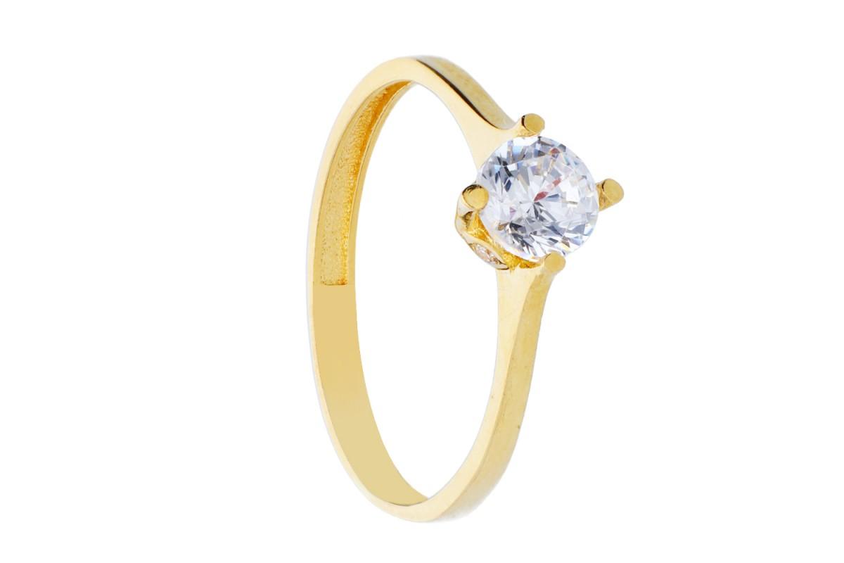 Inel de logodna aur 14K bijuterii dama