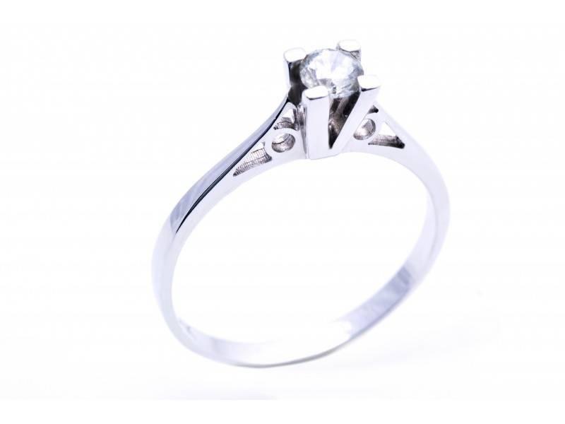 Inel de logodna cu diamant aur 18K