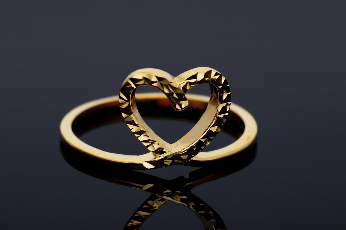 Inel din aur 14K inimioara