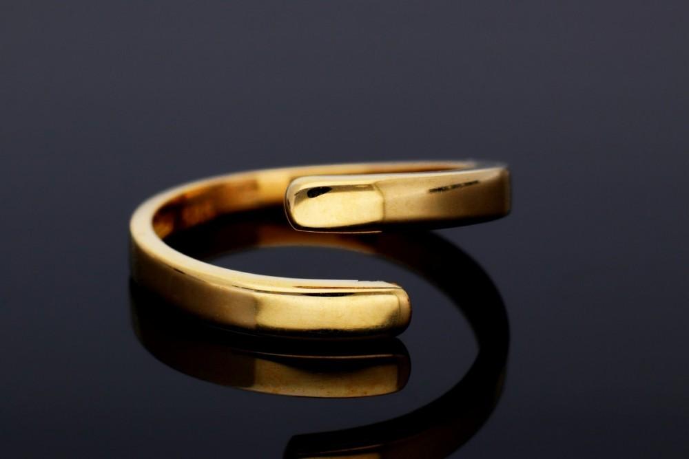 Inel minimalist din aur 14K usor reglabil