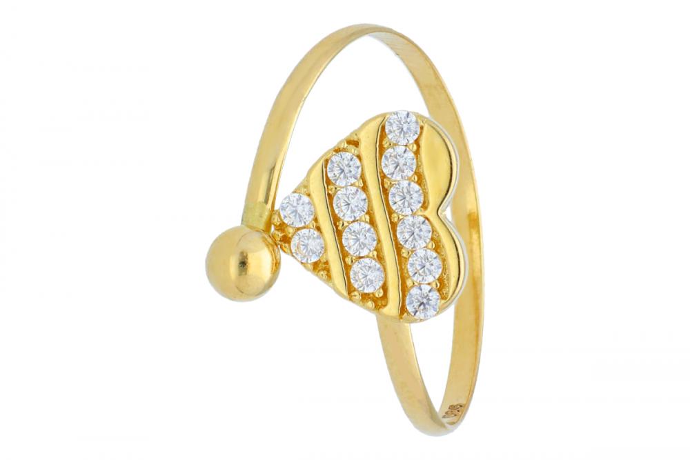 Inel reglabil pentru copii bijuterii aur 14k