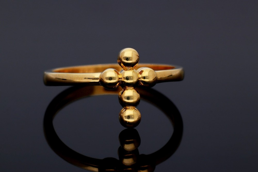 Inele din aur 14K cruciulita
