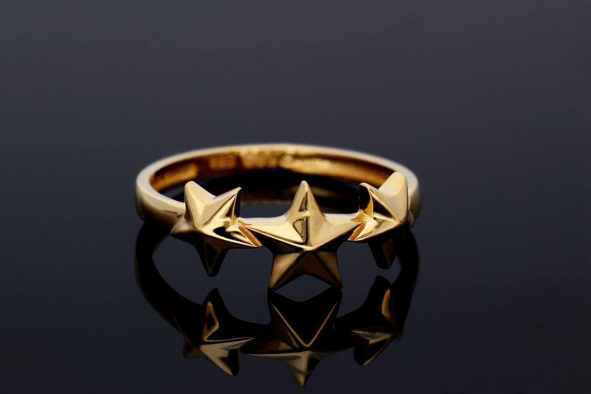 Inele din aur 14K stelute