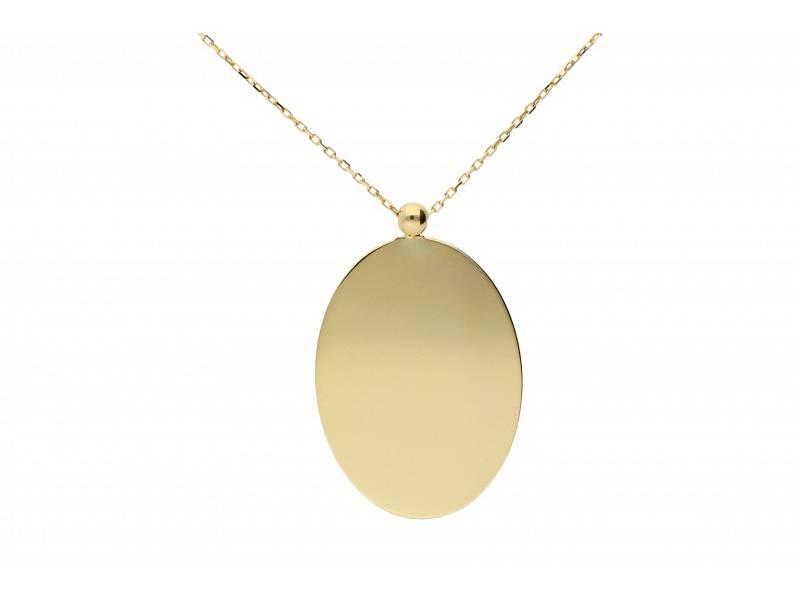 Lant cu pandant aur 14k bijuterii placuta