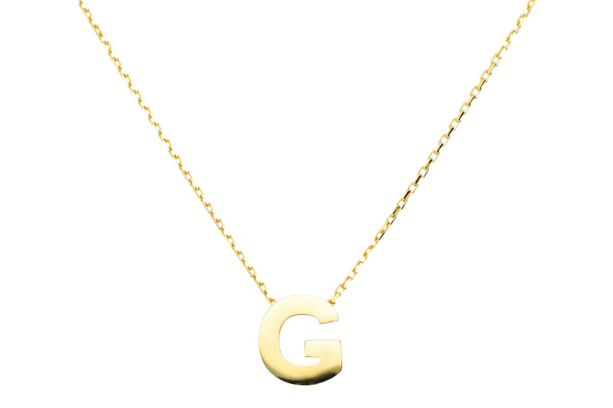 Lant cu pandant aur 14k litera G