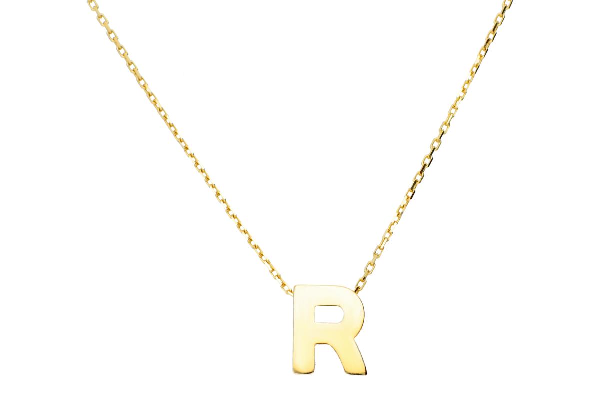 Lant cu pandant aur 14k litera R