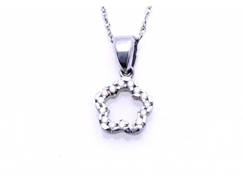 Lant cu pandant aur 18K diamante