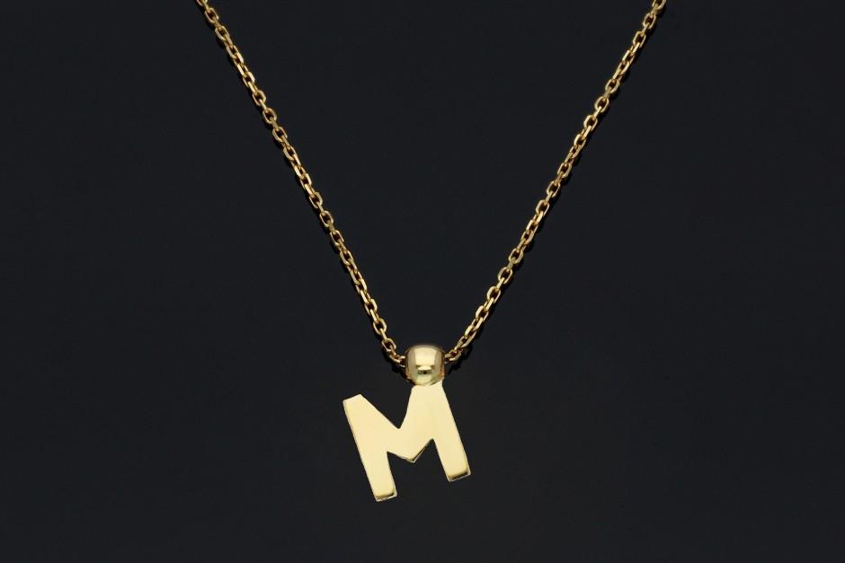 Lant din aur cu initiala - bijuterii aur la comanda