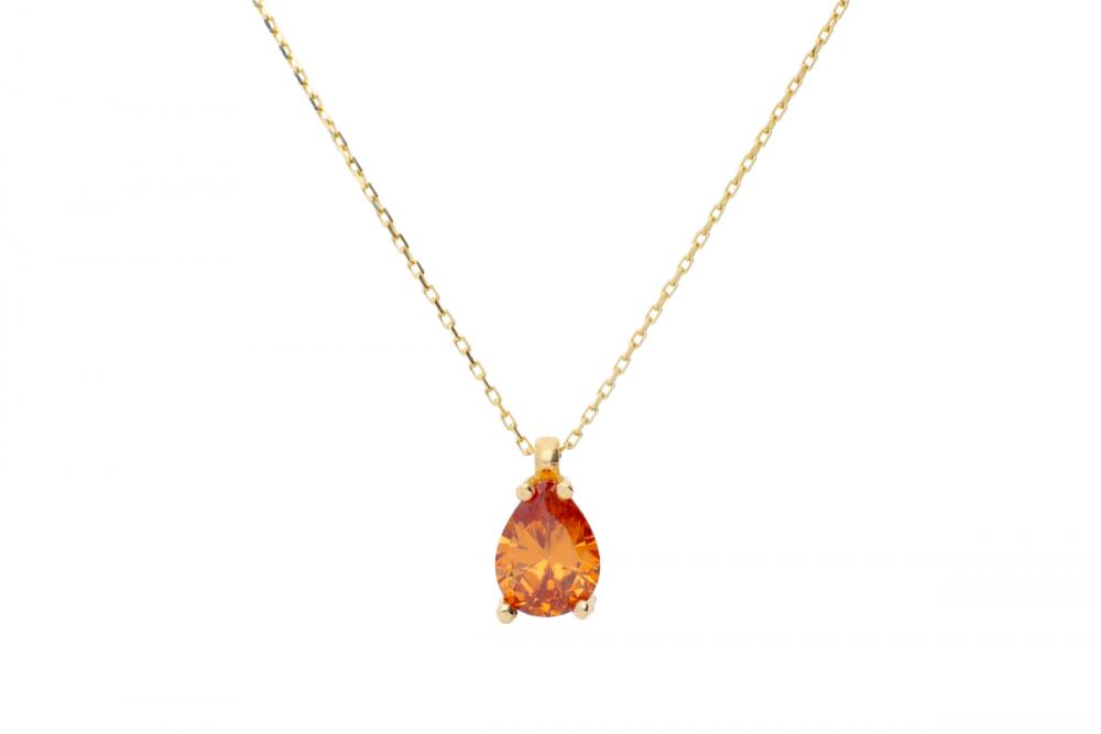 Lantisor aur 14k cu pandantiv bijuterii