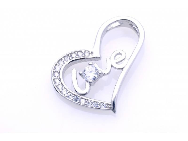 Pandant argint Love - inimioara