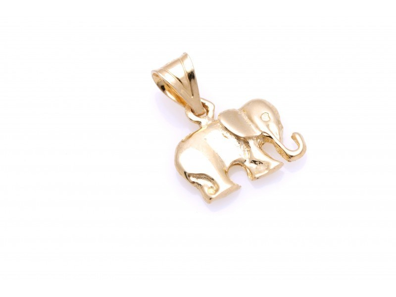 Pandant aur 14K elefant
