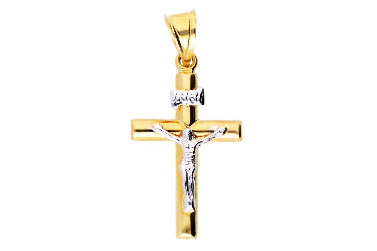 Pandantiv cruciulita Iisus aur 14k